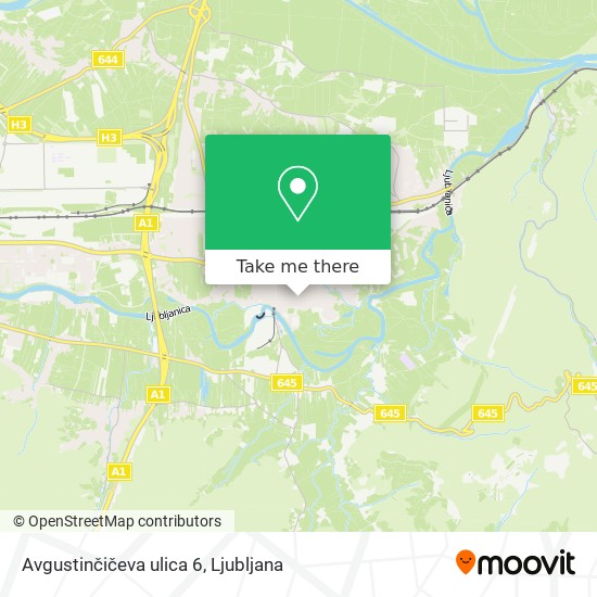 Avgustinčičeva ulica 6 map