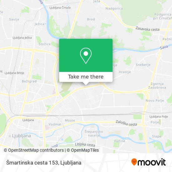 Šmartinska cesta 153 map