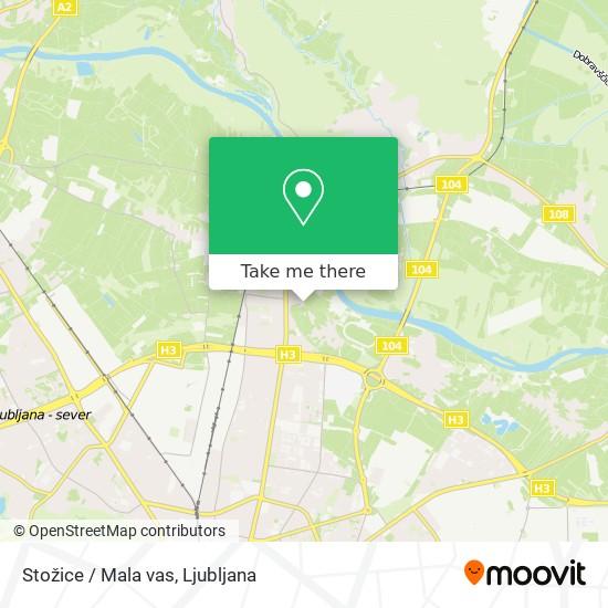 Stožice / Mala vas map