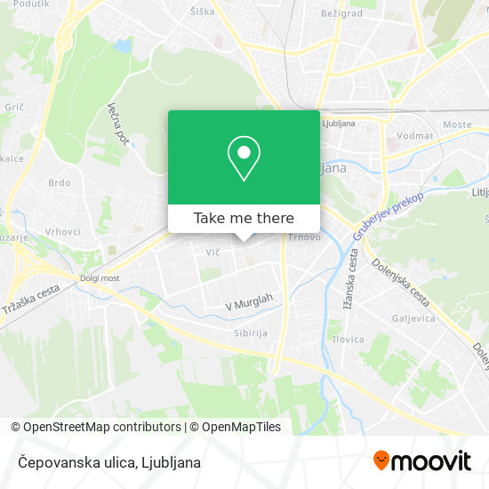 Čepovanska ulica map