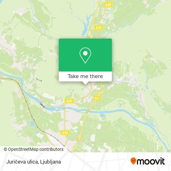 Juričeva ulica map