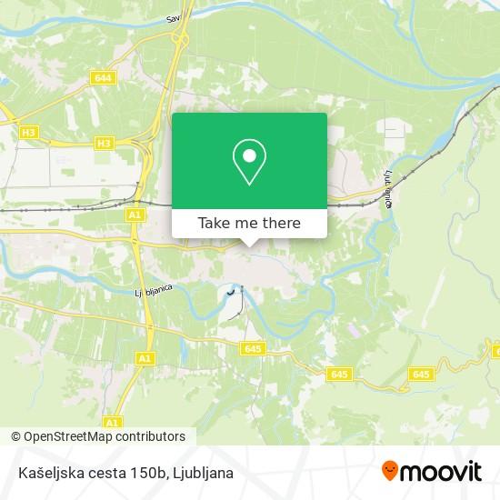 Kašeljska cesta 150b map
