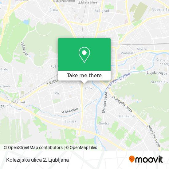 Kolezijska ulica 2 map