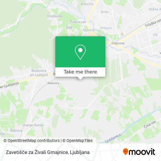 Zavetišče za Živali Gmajnice map
