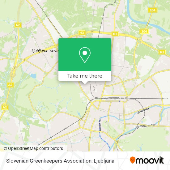 Slovenian Greenkeepers Association map