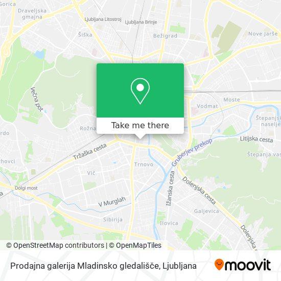 Prodajna galerija Mladinsko gledališče map