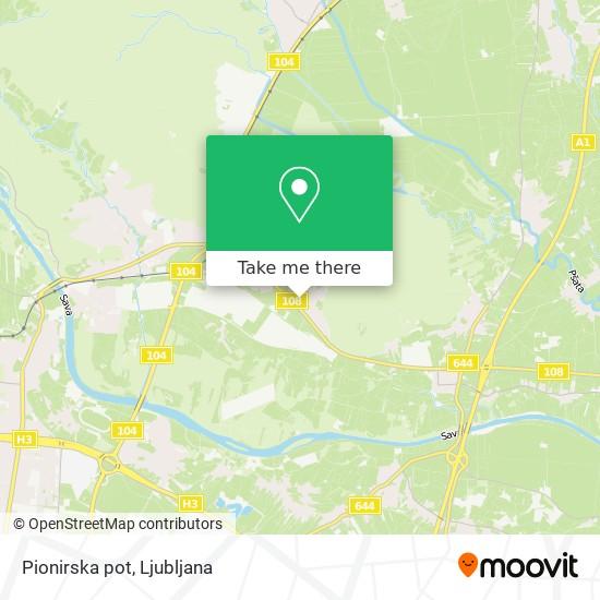 Pionirska pot map