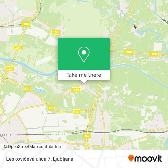 Leskovičeva ulica 7 map
