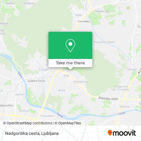 Nadgoriška cesta map