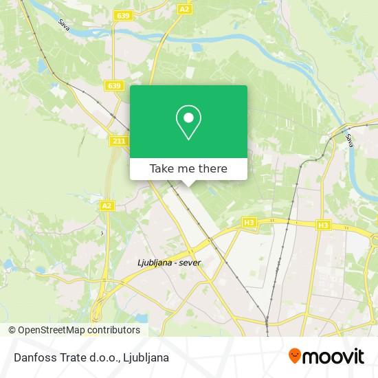 Danfoss Trate d.o.o. map