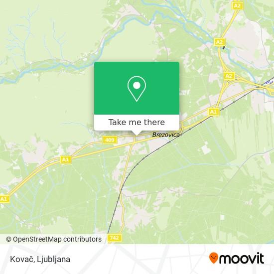 Kovač map