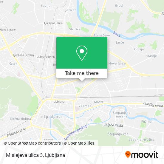 Mislejeva ulica 3 map