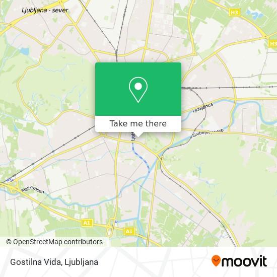 Gostilna Vida map