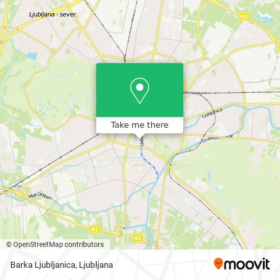 Barka Ljubljanica map