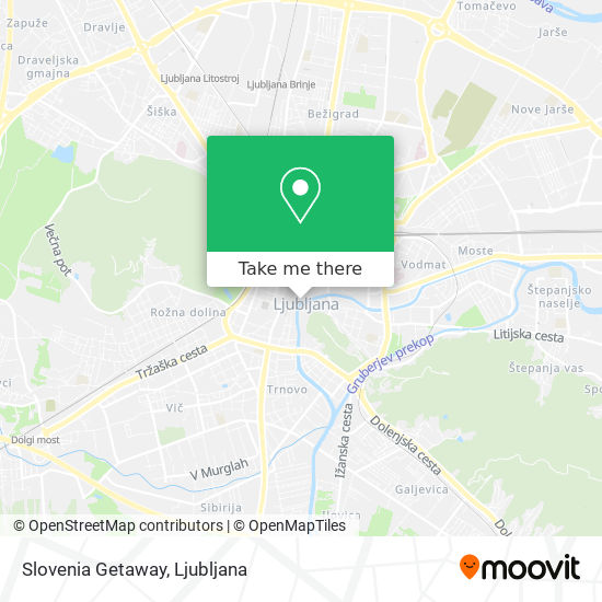 Slovenia Getaway map