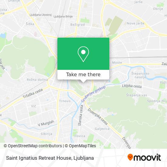 Saint Ignatius Retreat House map