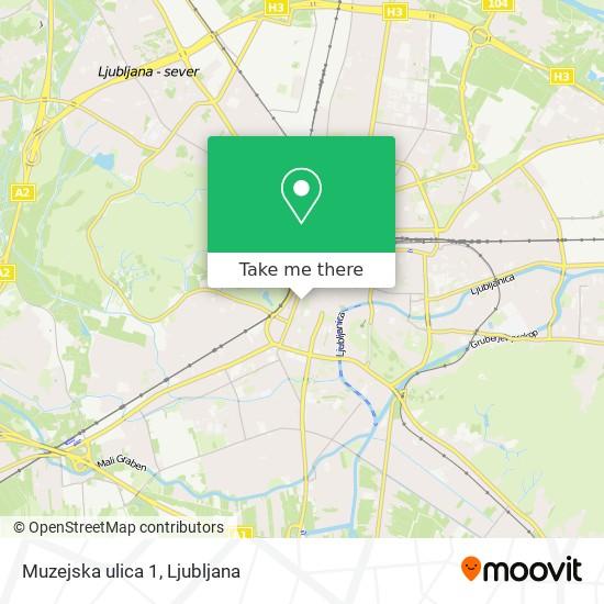 Muzejska ulica 1 map