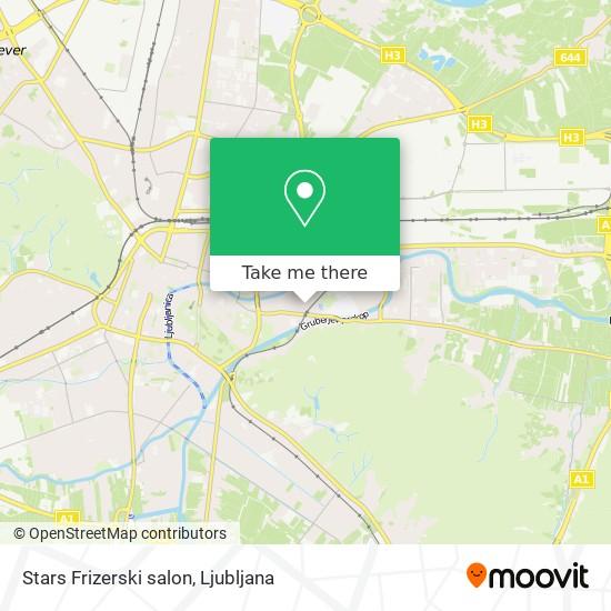 Stars Frizerski salon map