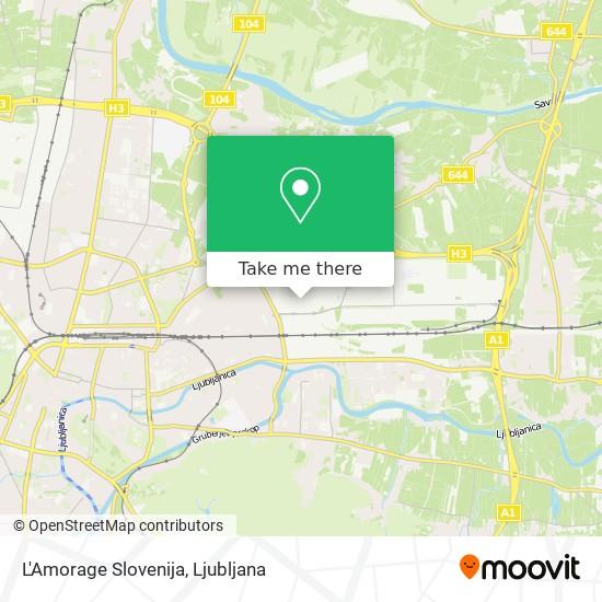 L'Amorage Slovenija map