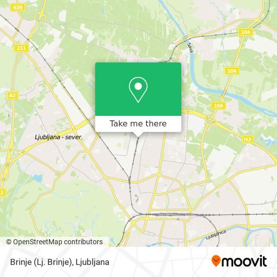Brinje (Lj. Brinje) map