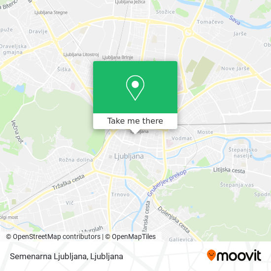 Semenarna Ljubljana map