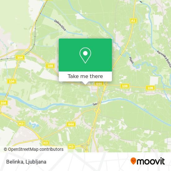 Belinka map