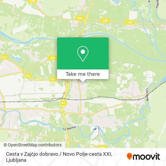 Cesta v Zajčjo dobravo / Novo Polje-cesta XXI map