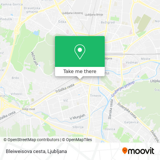 Bleiweisova cesta map