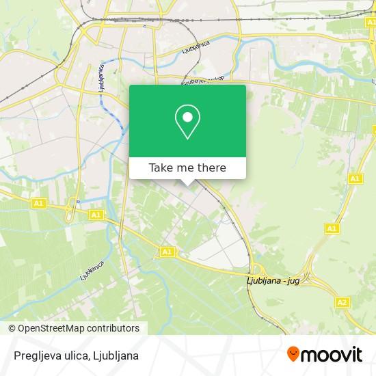 Pregljeva ulica map