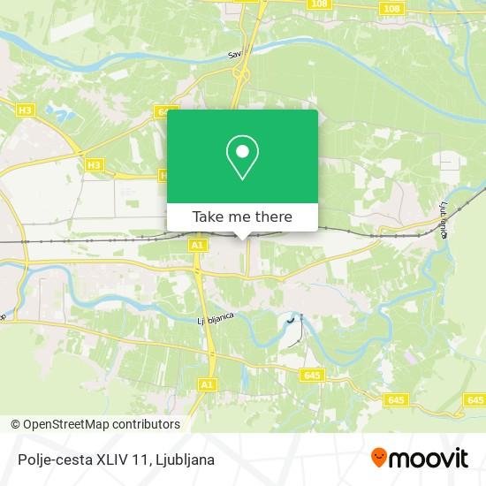 Polje-cesta XLIV 11 map