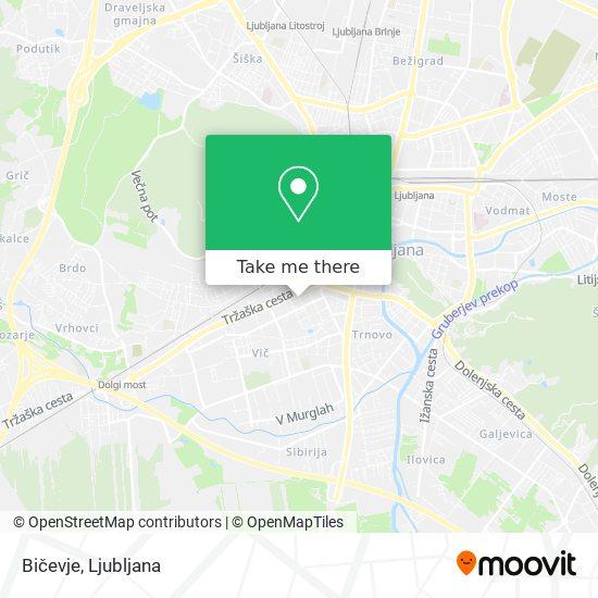 Bičevje map