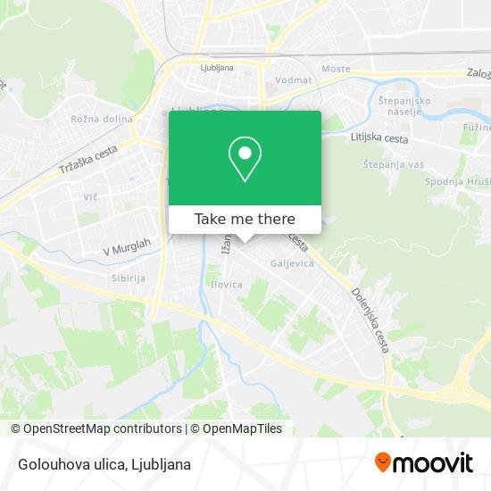 Golouhova ulica map