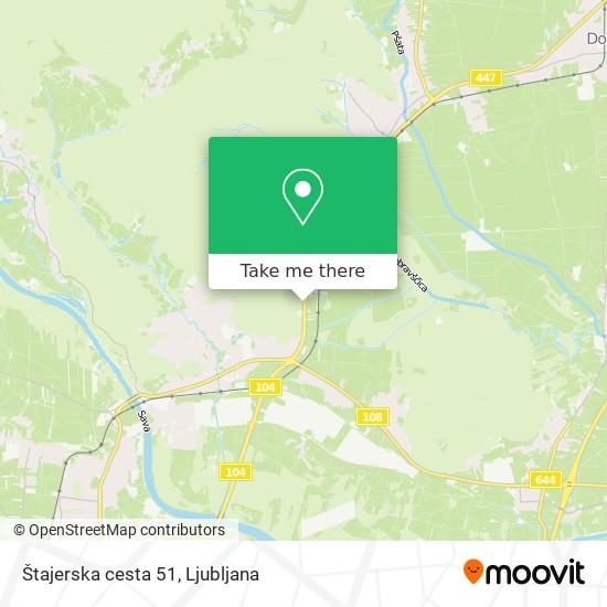Štajerska cesta 51 map