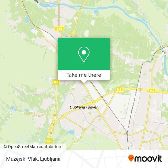 Muzejski Vlak map