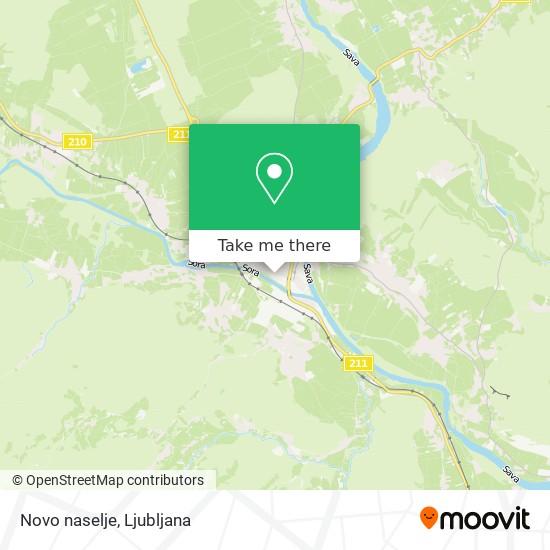 Novo naselje map