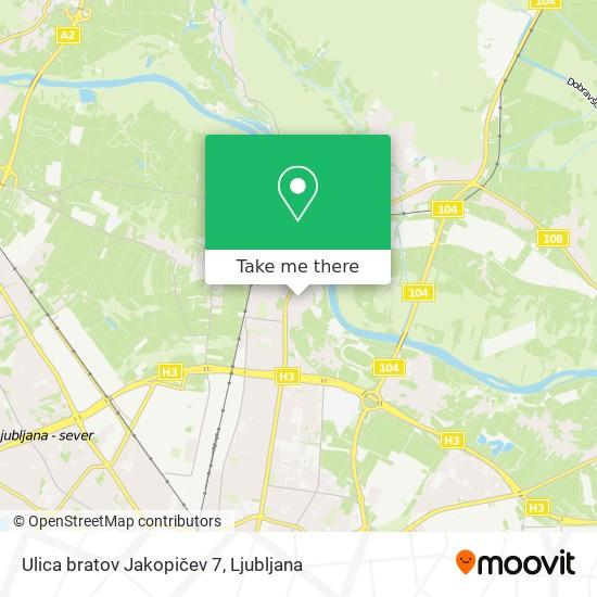 Ulica bratov Jakopičev 7 map