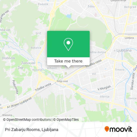 Pri Zabarju Rooms map
