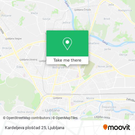 Kardeljeva ploščad 25 map