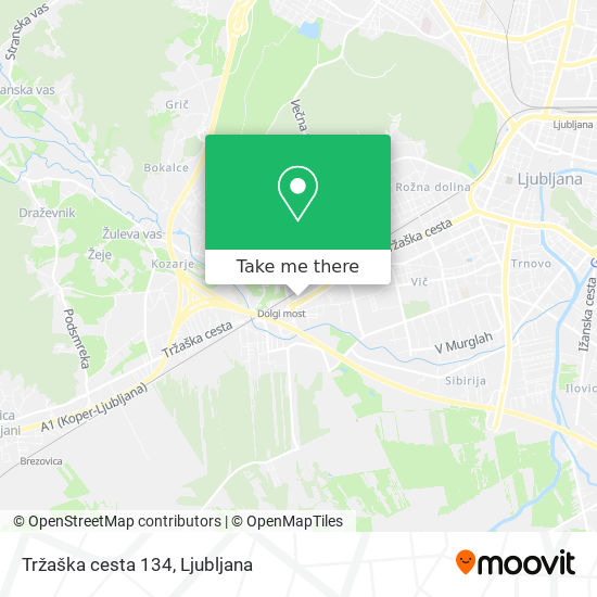 Tržaška cesta 134 map