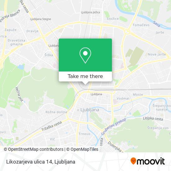 Likozarjeva ulica 14 map