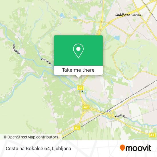 Cesta na Bokalce 64 map