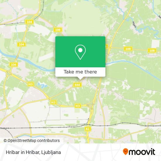 Hribar in Hribar map