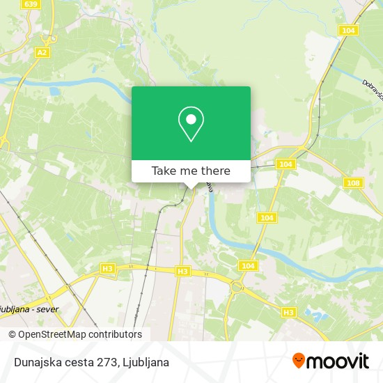 Dunajska cesta 273 map