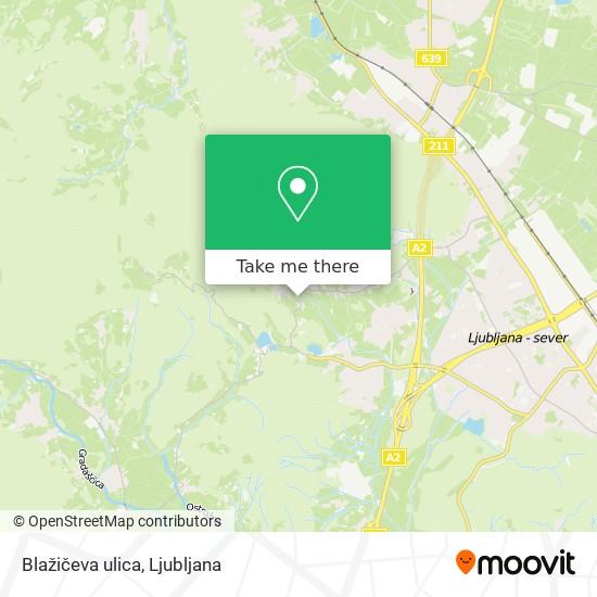 Blažičeva ulica map