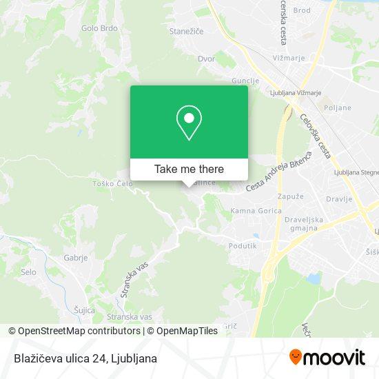 Blažičeva ulica 24 map