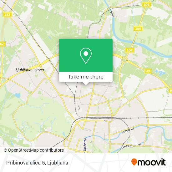 Pribinova ulica 5 map
