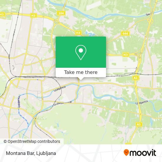 Montana Bar map