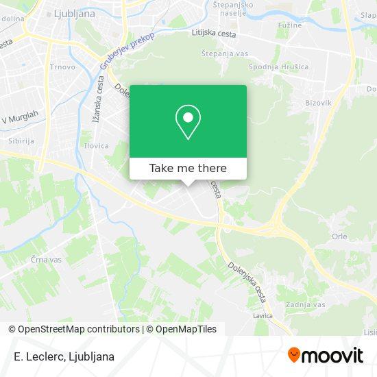E. Leclerc map