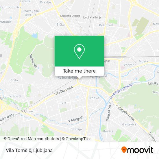 Vila Tomšič map