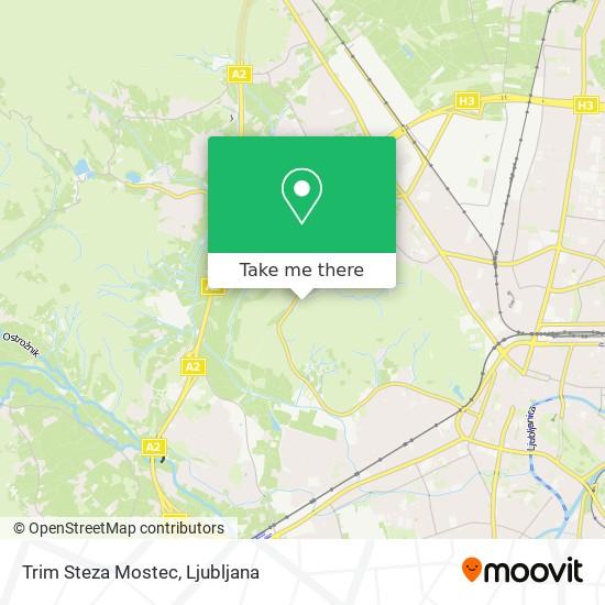 Trim Steza Mostec map